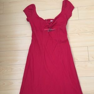 Miss Sixty women SZ US L red cap sleeve dress